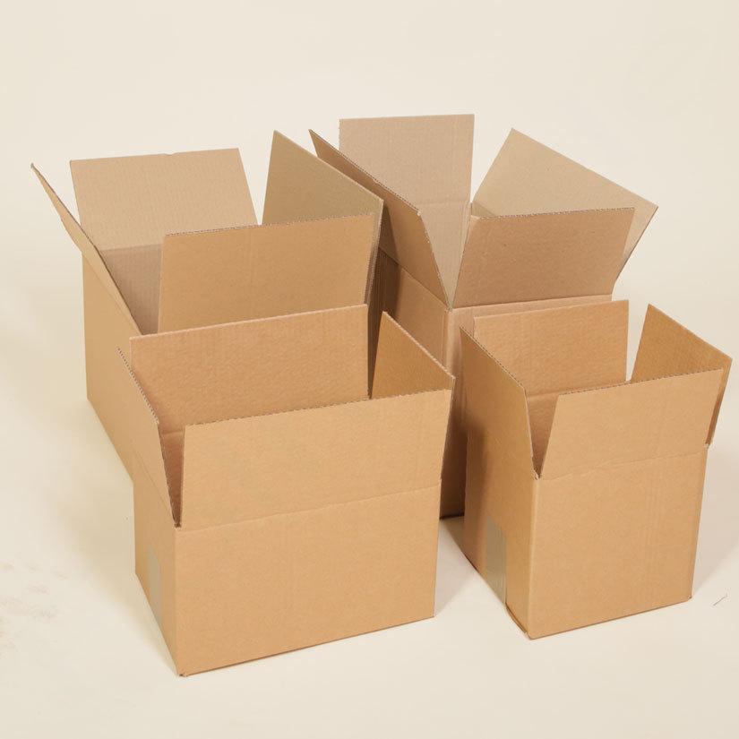 Versandschachtel 100 Kartons 170 x 150 x 100mm Faltkartons braun 1 wellig